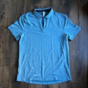 Lululemon Evolution Polo Collared Shirt Teal L